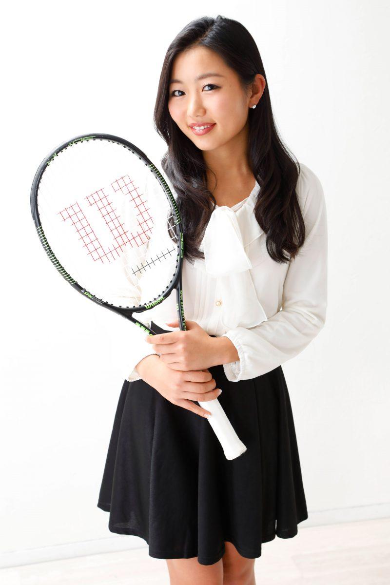 テニスプレーヤーのプロフィール撮影 アスリート