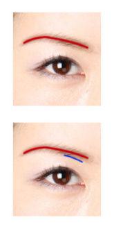 タクミ式眉の描き方、簡易版