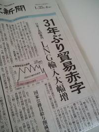 日本貿易赤字!!